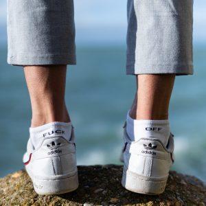 modèles de chaussettes basses à message