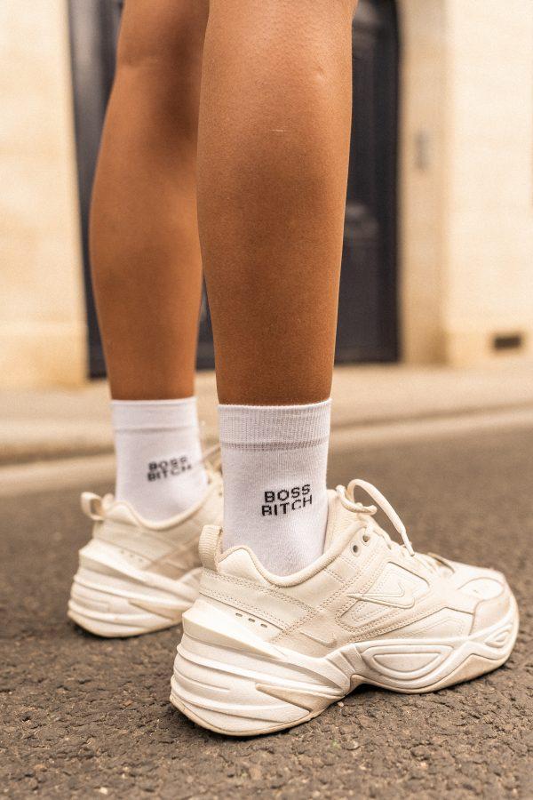 Modèle de chaussettes à inscription