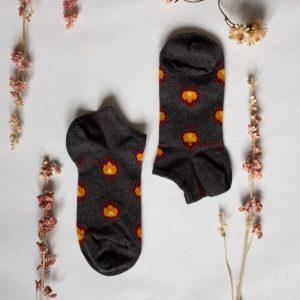 Chaussettes grise flammes