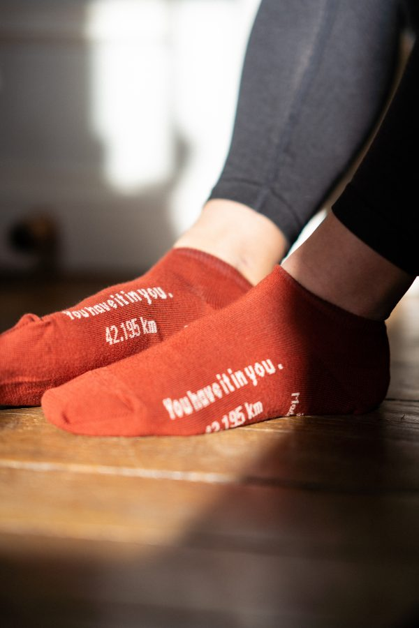 modèle de socquettes marathon carmin