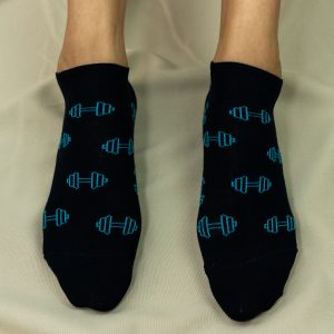 socquettes haltères bleues