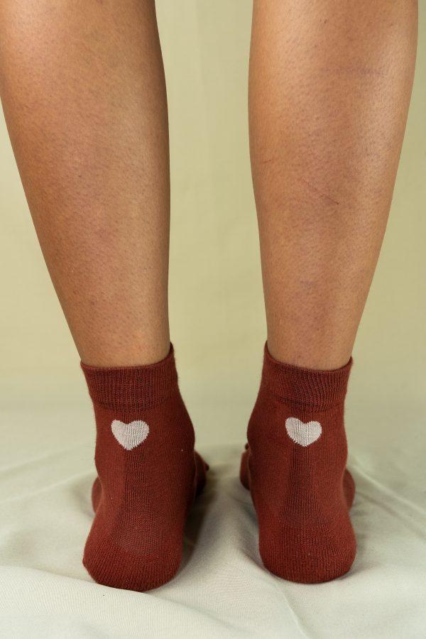 Arrière chaussettes love carmin